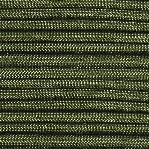 Camo Green 550 Lb Test Nylon Braided Parachute Cord by Para-Cord