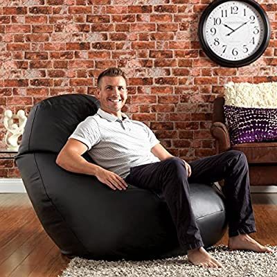 WHOPPER GIANT Bean Bag - Faux Leather Bean Bag Chair - XXXL Seriously Man Size Bean Bags!