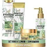 Pantene Pro-V Miracles Forti&Lunghi, Set con Shampoo Anticaduta 225 ml, Balsamo Capelli 160ml, Maschera Capelli 160ml, Siero