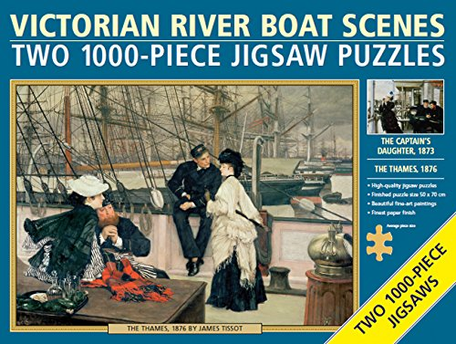 Two Jigsaws - Victorian River Boat Scenes: Two 1000-piece Jigsaw Puzzles: the Thames, 1876, by James Tissot, and the Captain's Daughter, 1873 -