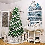 Victor's Workshop 50tlg. Weihnachtskugeln Weiss Silber Weihnachtsbaumschmuck Plastik Weihnachtsschmuck für Weihnachten Deko Anhänger MEHRWEGVERPACKUNG - 7