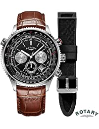 Rotary GS00100/04/BRN Mens Chronograph Watch w/ Date
