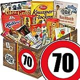 Suessigkeiten Box | Ostalgie Set L | Zahl 70 | Geburtstags GeschenkOma