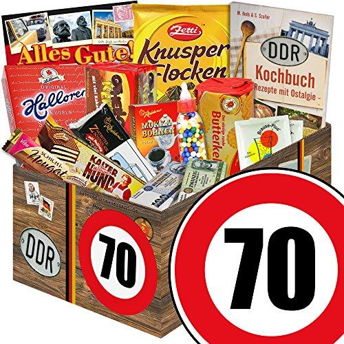 DDR Geschenk L | Zahl 70 | Geschenk Idee Oma | Suessigkeiten Korb