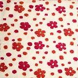 Antonia - Webpelz mit Wolle / Baumwoll Plüsch - Fell Teddy - florales Blütenmuster - Stoff Meterware (per Meter)