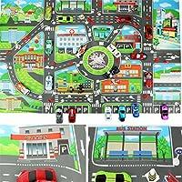 VWH Kids Toys City Parking Lot Roadmap Map DIY Car Model Toys Climbing Mats