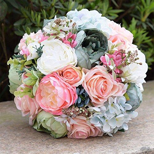 Handgemachte Strass Künstliche Blumen Gefälschte Seide Hortensie Brautstrauß / Muttertag Geschenk