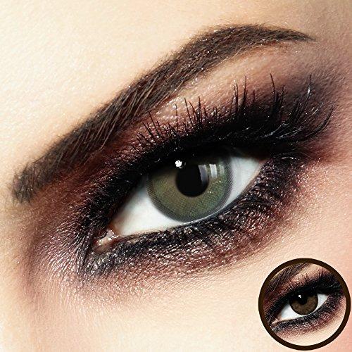 Farbige PREMIUM Kontaktlinsen - COCOA Inter-Beige - Silikon Hydrogel - Monatslinsen von LUXDELUX® - No.12
