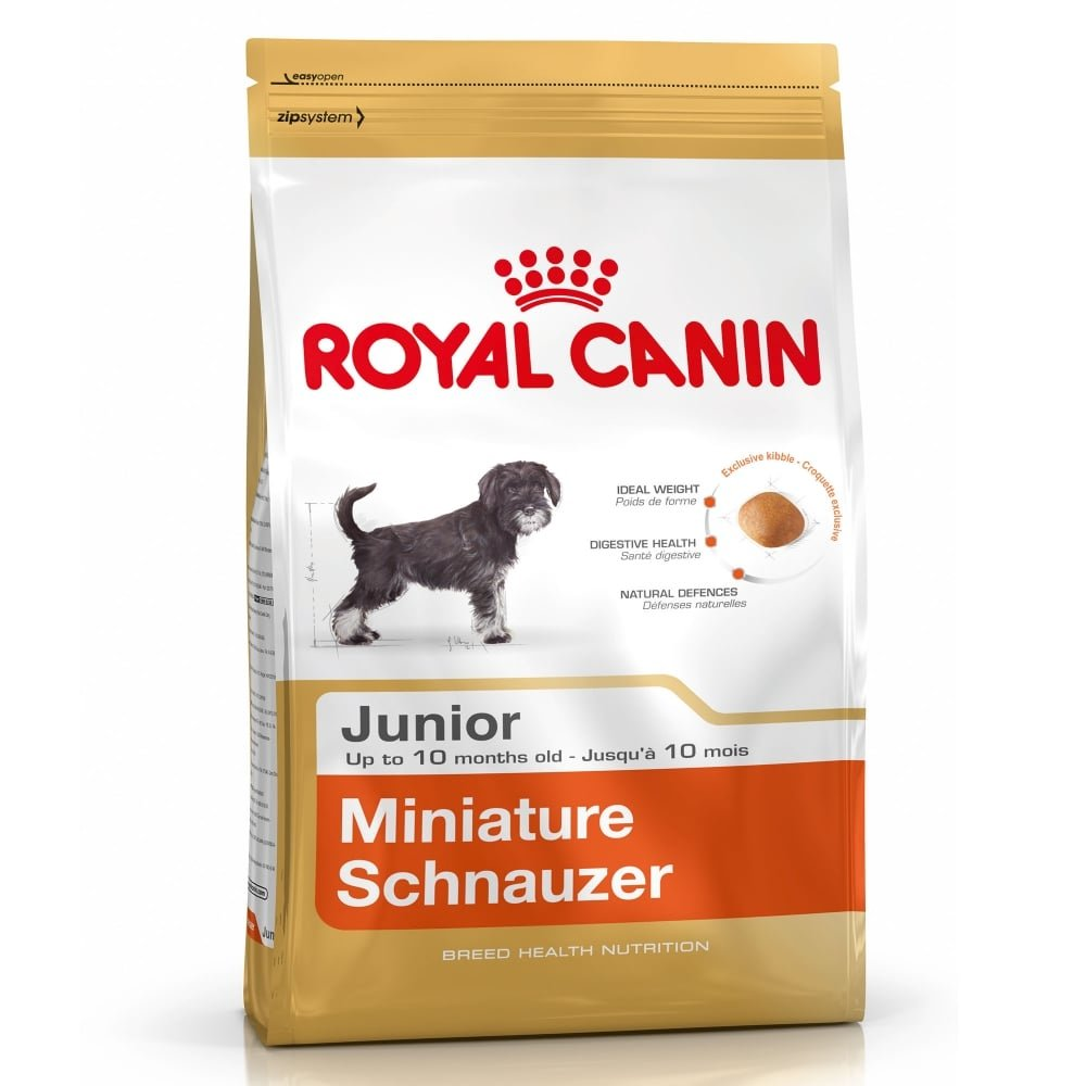2 X 1.5KG (3KG) ROYAL CANIN MINIATURE SCHNAUZER JUNIOR DOG FOOD SUPPLIED BY MALTBY'S STORES