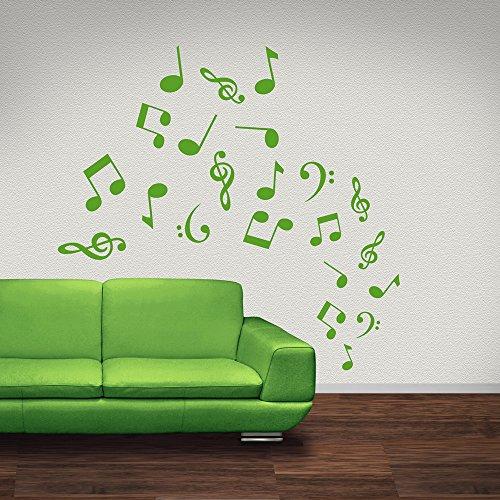 Musical-Notes-Tornado-Wandaufkleber-Wandtattoo-Musik-Kunst-verfgbar-in-5-Gren-und-25-Farben-Extragro-Laubgrn