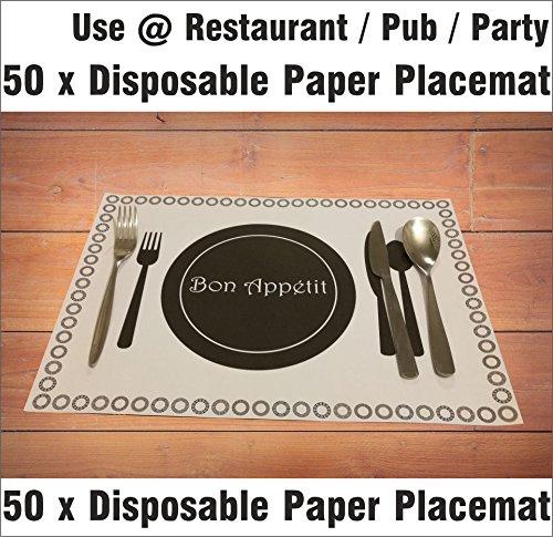 A3Einweg Papier Tischsets Platzsets Esstisch Tisch-Sets Catering Restaurant Hotel Pub Party Büro rechteckig Indoor Outdoor rutschfeste, holz, 50 sheets