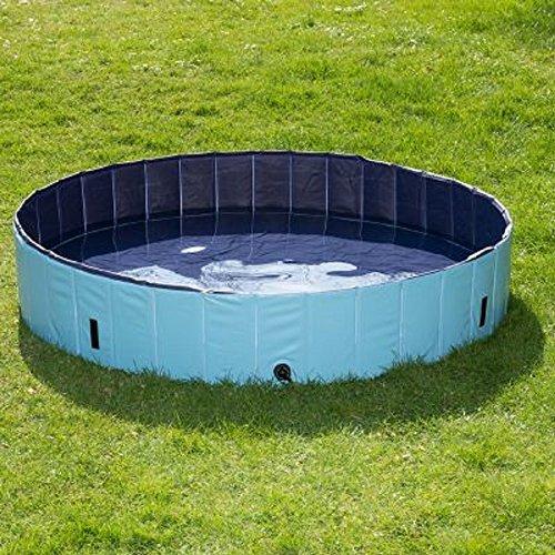 Extérieur pour Chien Piscine gonflable Fun Jardin en plastique durable avec surface antidérapante spacieux