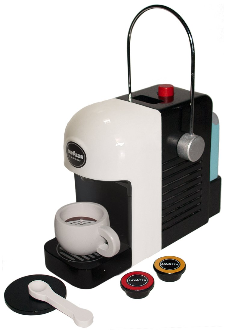 61eX9E4sA7L - Tanner 0994.1 Lavazza coffee machine, original wooden with realistic game functions, white