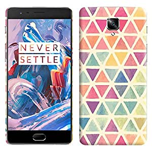Theskinmantra Colorful Triangles back cover for OnePlus 3/OnePlus Three/1+3