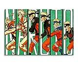 Naruto Evolution Wandbild 120x80cm XXL Bilder und Kunstdrucke auf Leinwand
