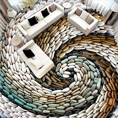 Mkkwp Guijarros Papel Tapiz Fotográfico Moderno 3D Azulejos De Piso Pegatinas De Pintura Habitación De Los Niños Sala De Estar Anti Desgaste Pvc Pisos De Vinilo Murales250Cmx175Cm