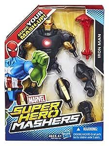Marvel – Super Hero Mashers – Iron-Man Armure Noire et Or – Figurine à Assembler