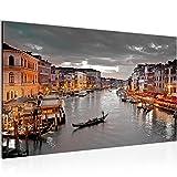Bild Venedig Italien Wandbild Vlies - Leinwand Bilder XXL Format Wandbilder Wohnzimmer Wohnung Deko Kunstdrucke Braun 1 Teilig - MADE IN GERMANY - Fertig zum Aufhängen 604314b
