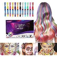 Innoo Tech Mechas de Colores, Maquillaje Infantil, mechas Pelo niña, 12 Colores, Regalos para niñas, Adecuado Cabello