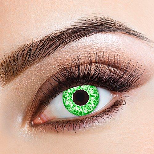Preisvergleich Produktbild aricona Farblinsen  Natürliche farbige Kontaktlinse Green Glitter   - Jahreslinsen für helle Augenfarben, ohne Stärke, Farblinsen als Modeaccessoire für den täglichen Gebrauch