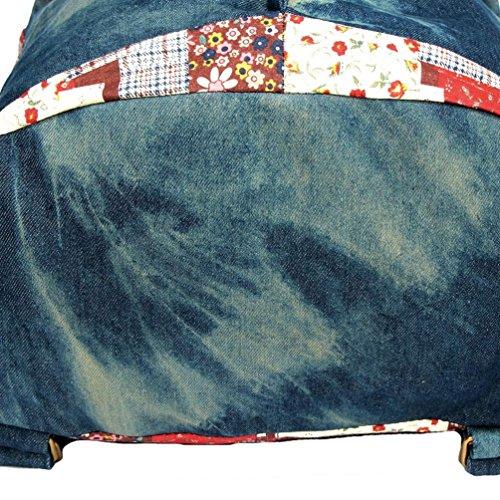 Chang Spent Women 's College di tela di canapa Personalized Travel Bag a tracolla zaino del sacchetto di(Colore facoltativo) , brown Blue