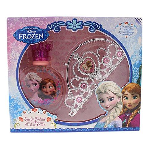 Air Val Disney Frozen Die Eiskönigin Geschenk-Set, 1er Pack (Eau de Toilette Spray 100 ml, Haarreifen Diadem (Krone, Tiara))
