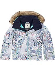 Roxy Jet Ski Girl Jk Chaqueta para Nieve, Niñas, Blanco (Bright White Pattern_1), 16/XXL