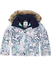 Roxy Jet Ski Girl Jk Chaqueta para Nieve, niñas, Blanco (Bright White Pattern_1), 14/XL