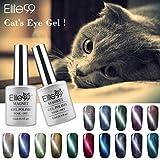 Elite99 UV LED Cat Eye 3D Farbe Nail Gel auflösbarer Nagellack Shimme (10 x 12ml)