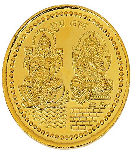 Chandrika-Pearls-Gems-Jewellers-Dhanteras-Diwali-24-carat-gold-plated-german-silver-coins-laxmi-ganesh-sikka-with-box-for-gift