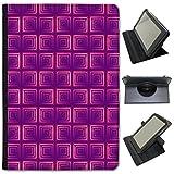 Violet Scrapbooking fonds d'écran en simili cuir Folio Presenter Coque Sac avec support de visionnage pour tablettes Asus Asus ZenPad Z300 10.1 inch Mosaic Red White Square Pattern