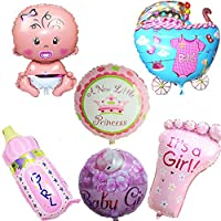 CHIPYHOME 6 Unids Globos XL Baby Shower Rosa Bebes bautizos cumpleaños, Mesa de invitado,