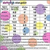 Dotty Fish Leder Babyschuhe - rutschfest Wildledersohle - chromfrei weiche Lederschuhe - Baby Jungen - beige und braun Löwe - 12-18 Monate - Gr. 22 Bild 7
