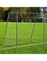 2,4 x 1,8m FORZA Stahl42 Fußballtor (das stabilste tragbare Stahl Fußballtor & Netz-Paket mit Option für Trainings Torwand)