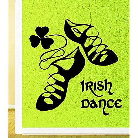 Adesivi da Parete in Vinile danza irlandese Irlanda Dublino del giorno di San Patrizio (i253)