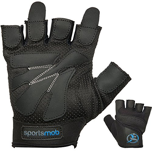 sportsmob-Weight-Lifting-Gloves-by-Amara-Leather-and-Gel-Padded-Palms-for-Grip-and-Cushioning--Breathable-Mesh-to-Cool-the-Hands-X-Large