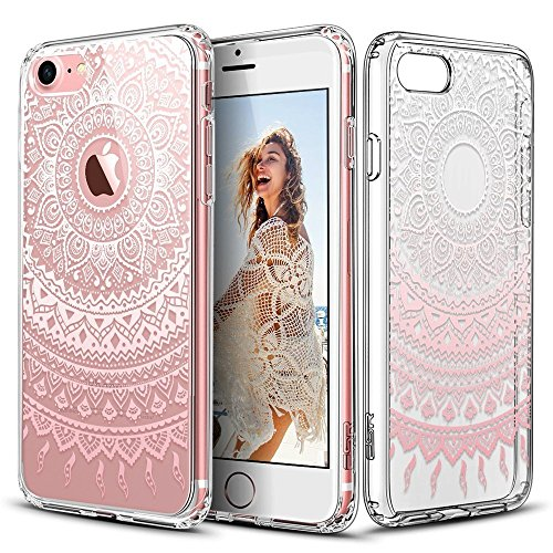 iPhone 5/5s/5SE Case, WALMARK Hard PC Back Shell Skin Cover with Printed Pattern + TPU Bumper Edge for Apple iPhone 5/5s/5SE-Pink Manjusaka