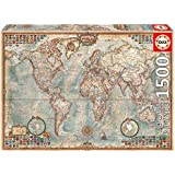 Puzzles Educa - El mundo, mapa político, puzzle de 1500 piezas (16005)