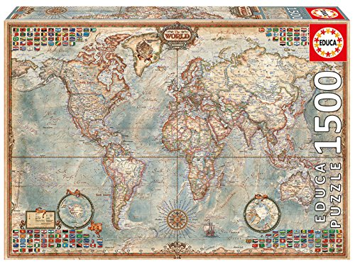sche Weltkarte, 1500 Teile Puzzle ()