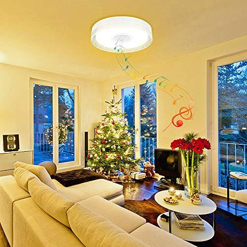 iLifeSmart LED Deckenleuchte Dimmbar Farbwechsel 4160Lumens mit Bluetooth Lautsprecher APP Fernbedienung für Schlafzimmer, Wohnzimmer
