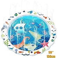 150CM asperjan y salpican la estera del juego del agua, Cojín inflable de la regadera, juguetes del aerosol del verano perfectos para los cabritos/perro/gato/animales domésticos y actividades al aire libre de la familia por Termichy (submarino)