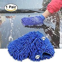 BeiLan 1 paio Mitt di lavaggio auto Ciniglia microfibra Guanti di guanti di pulizia Alta densità Ultra-morbido Guanto di lavaggio, Lint Free, Gratis Gratis, Usato Bagnato o Asciutto