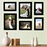 Art street Decorous Black Wall Photo Frames- Set of 6 Individual Photo Frames