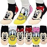 Small luxury socks factory Low Cut Socken Micky Maus Socken für Mädchen Packung mit 3 M Mehrfarbig