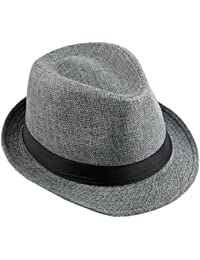 KYEYGWO Panama Fedora Hats for Men Woman 39428a4543f6
