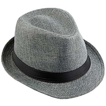 9dd4845b109d1 KYEYGWO Panama Fedora Hats for Men Woman, Braid Straw Short Brim ...