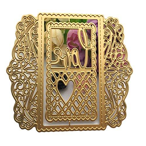 enipate Love Herz Raster Spitze Rahmen Metall Formen für Scrapbook Album Einladung Home Dekoration Embossing Schablonen Schnitt stirbt (Fall Out Boy Album Vinyl)
