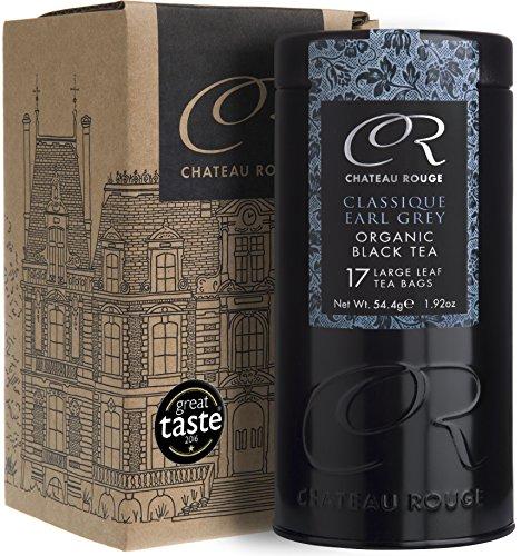 Klassischer BIO Earl Grey, Schwarzer Tee mit Bergamotte, ganzes Blatt, 50 Teebeutel