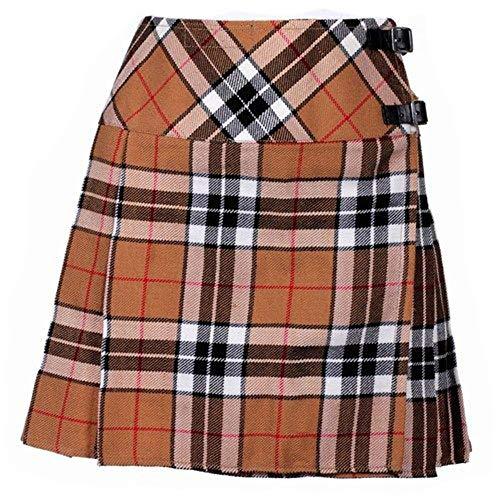 Schottland Kilt Co Damen Billie Schottenrock Schottenrock 16 Zoll Länge Schottisch Neu - Thomson Camel, Size 14/34