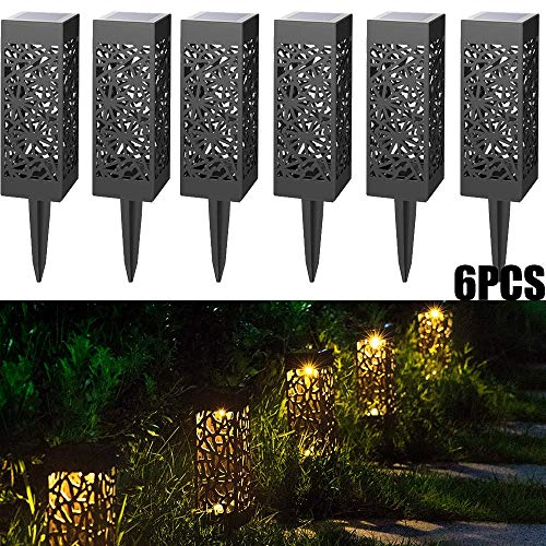 r Solarbetriebenes Licht, Niederspannungs-LED Pathway Garden Light Wasserdichte Stake Landschaft Hohl Rasen Lampe für Patio Yard Garden Path Warm White ()